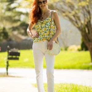AG womens white jeans Prima size 27